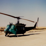 Operation Desert Storm - My Huey Covered Up Before Sand Storm, Silopi, Turkey